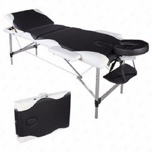 White Black Portable Leather Massage Table/Bed w/ Case for Salon Tattoo ... - $123.74