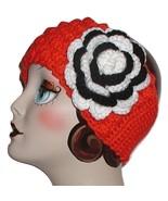 Orange And Black White Zebra Flower Headband Ear Warmer Cheer Team Head ... - $33.00