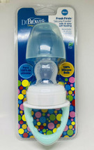Baby Feeder Fresh First Silicone Mint Green Clear BPA Free Dr Brown's - $10.88