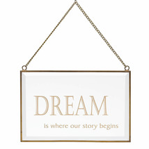 Lenox Dream Art Glass Wall Decor Metal Frame And Chain New In Box - $20.79