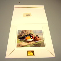 1985 Georgia Waterfowl Conservation Stamp & Artist-Signed Print w/Gold M... - $145.00