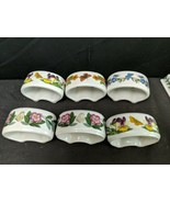 Portmeirion Botanic Gardens Set Of 6 Napkin Rings - $70.13