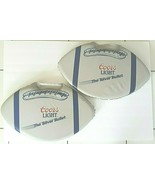 Coors Light Stadium Seat Football Shape Cushion Pads 2 Each - $23.36