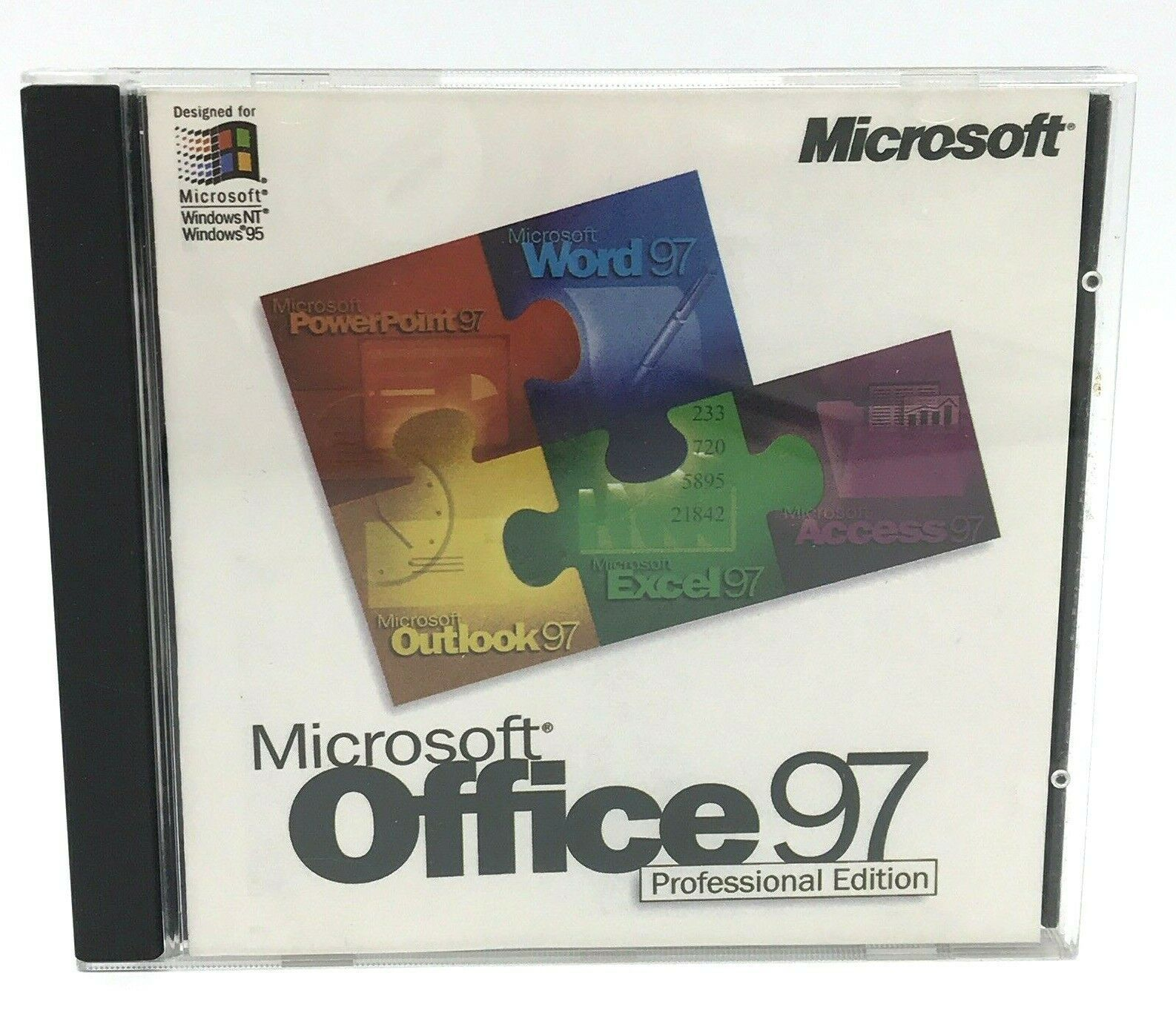 Primary image for Microsoft Office 97 Professional Edition SR-1 CD Key Word Excel PowerPoint