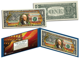 "United States of America Flag ""Old Design"" Legal Tender $1 Bill FULLY CO... - $9.46"