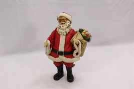 "Clothtique Possible Dreams Santa Holding Toy Bag Xmas 10"" - $26.95"