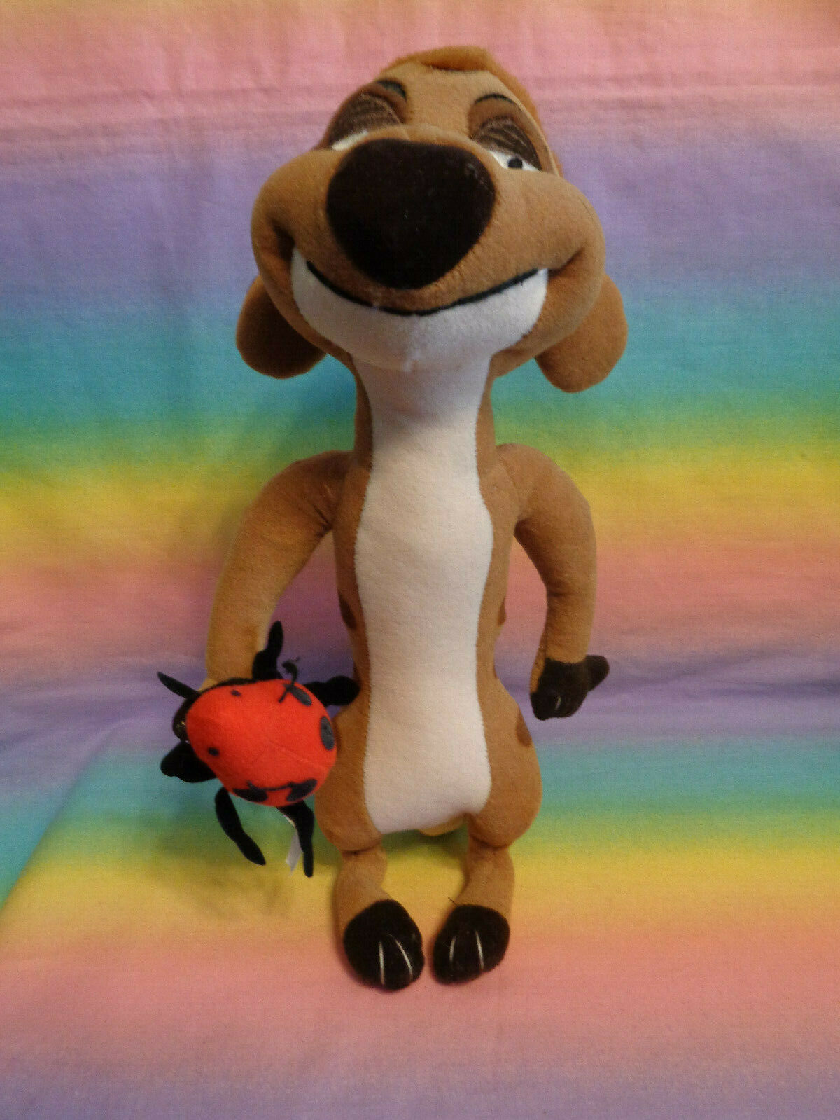 Primary image for Disney Store Lion King Meerkat Timon Plush Bug in Hand Stuffed Animal 11""