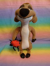 "Disney Store Lion King Meerkat Timon Plush Bug in Hand Stuffed Animal 11"" - $11.83"