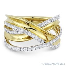 0.53 ct Diamond Right-Hand Overlap Loop Fashion Ring in 14k Yellow & Whi... - $1,449.99