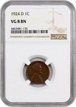 1924-D 1c NGC VG-08 BN - Lincoln Cent - $43.65