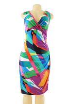 Ralph Lauren Women's Size 8 Abstract Print V-Neck Folded 2927-3 - $46.27