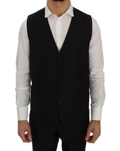 Dolce & Gabbana Blue Wool Silk Dress Formal Vest - $99.90+