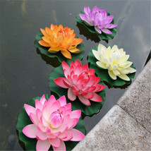 Floating EVA Lotus Flower Artificial Lotus Flower For Aquarium Fish Tank... - $8.18