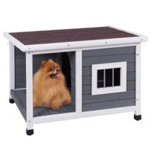 Dog House Outdoor Weather Waterproof Pet Wood Pet Kennel Natural Wooden - $94.50
