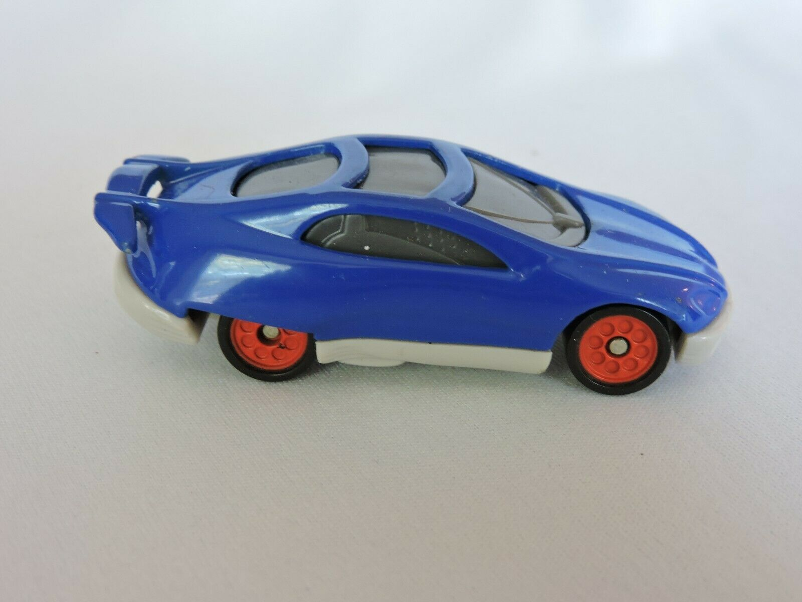 Hot Wheels Blue Toy Car Red Tires 1999 Mattel Race Car McDonalds Happy Meal - $5.40