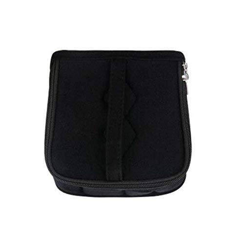 Essential Oil Carrying Case - Travel Organizer with Handle-13 Slots(black)