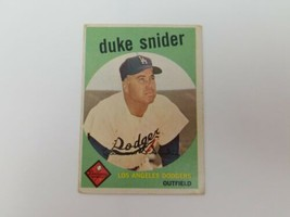 1959 Topps Duke Snider Baseball Card  #20 VG No Creases Brooklyn LA Dodgers HOF - $19.54