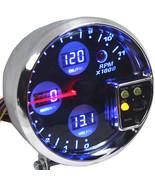 """5"""" DIGITAL RPM TACHOMETER METER GAUGE WATER TEMPERATURE/OIL PRESSURE/VOL... - $79.65"""