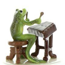 Hagen Renaker Miniature Frog Froggy Mountain Breakdown Dulcimer Ceramic Figurine image 3
