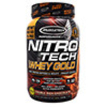 Muscletech Performance Series Nitro Tech 100% Whey Gold Double Rich Choc... - $43.09