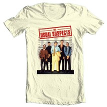 The Usual Suspects T shirt retro 90s movie white 100% cotton graphic print tee image 1
