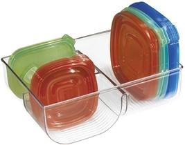 Clear Plastic Food Storage Container Lid Organizer For Kitchen Cabinet P... - $25.95