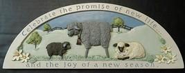 Russ Door Window Topper Plaque Spring Seasonal Lambs Sheep Farmhouse Wal... - $29.80