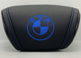 BMW Black Car Cushion Travel Pillow Logo Embroidery Headrest Neck Support - $35.00