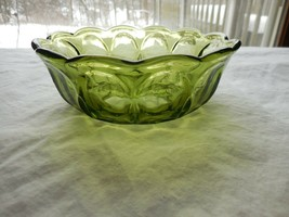Indiana Glass Fairfield Olive Green salad/small/serving Bowl - $7.99