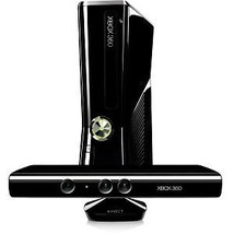 Microsoft Xbox 360 With Kinect 4GB Black Console Tested System Gaming Bundle Lot - $189.99
