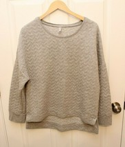 Gap Body Womens Sweatshirt Size M Gray Quilted Oversized (Fit L) - $21.75