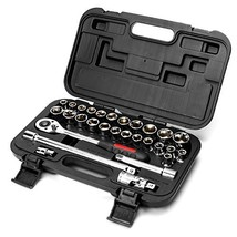 "MAXPOWER 30pcs 1/2"" Drive Socket Wrench Set Includes up to 1-inch Large ... - $53.65"