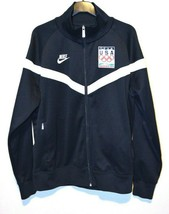 2010 Nike Team USA Olympics Mens Large Track Jacket Vancouver Navy Blue ... - $47.00
