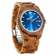 Wilds Wood Watches for Men - with Date Display - Minimalist Collection (... - $79.91
