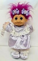 "Russ Berrie Troll Kids 12"" Vtg Purple Dress Lace Shoes 2325 Full Outfit ... - $39.59"