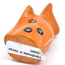 SMOLArt Hand Carved Soapstone Orange Sitting Kitten Cat Figurine Made Kenya image 5