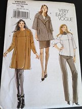 Vogue V8520 Sewing Pattern, Misses' Jacket, Size BB (8-10-12-14) - $14.70