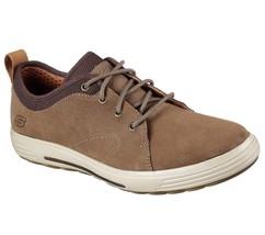 Men's SKECHERS SKECH-AIR: PORTER - ELDEN Casual Shoe, 65141 BGE Sizes 8-14 Beige image 1