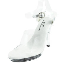 Ellie Shoes Sexy High Heel Clear Sandal with an... - $42.95