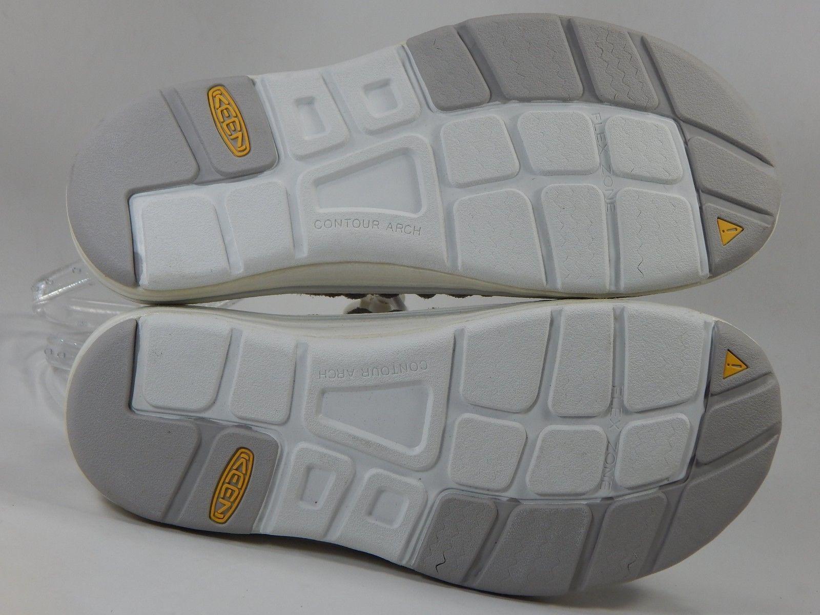 Keen Uneek Leather Women's Sport Sandals Size: US 7 M (B) EU 37.5 Gray / White