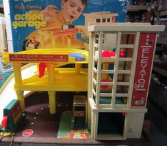 Vintage Fisher Price Little People Parking Garage Ramp Service Center Co... - $123.50