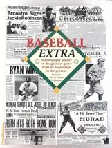 MLB BASEBALL Chronological Newspaper History 1857 - 1999 Caren Hardcover DJ - $21.55