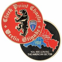 "ARMY BERLIN BRIGADE CHECKPOINT CHARLIE BERLIN 1.75""  CHALLENGE COIN  - $17.14"