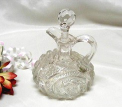 2699 EAPG Antique Hobstar and Zipper Glass Cruet - $35.00