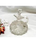 2699 EAPG Antique Hobstar and Zipper Glass Cruet - $35.00