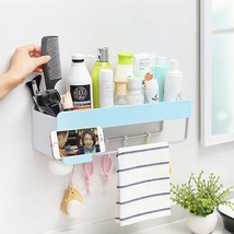 HOOMTAOOK Bathroom Shelf Organizer Shower Caddy Wall Mount Rack Self Adh... - $39.17