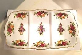 ROYAL ALBERT Old Country Roses Holiday Divided SERVING TRAY Rectangular ... - $49.45