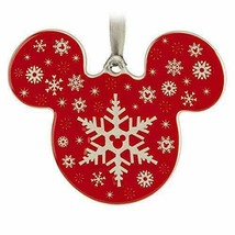 NWT Disney Parks Red Snowflake Ceramic Ornament - $14.84