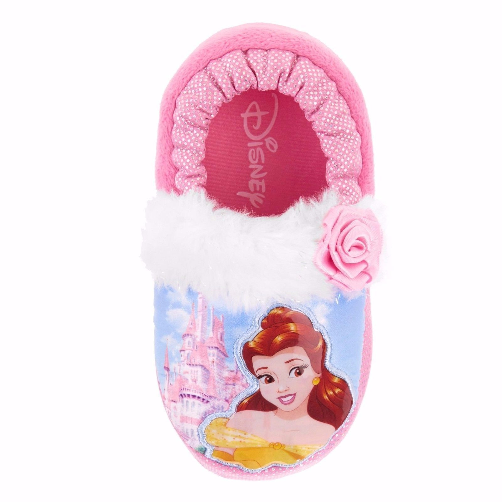 89062c37eaf NEW NWT Disney Princess Belle Beauty and the Beast Slippers Toddler 5 6