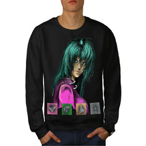 Anime Green Punk Girl Jumper Colorful Men Sweatshirt - $18.99+